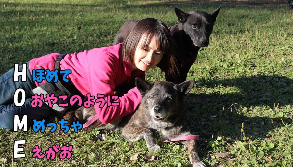 犬の保育園ドッグトレーナーと愛犬