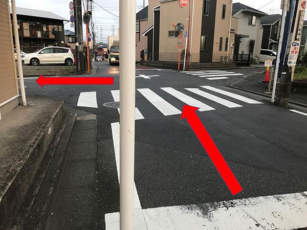 セントラルスポーツ戸塚の十字路